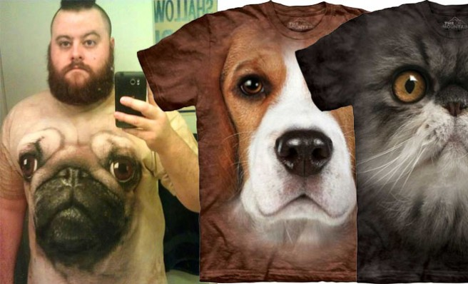 thumb dogts 20 Most Funniest and Realistic 3D Dog Face T Shirts