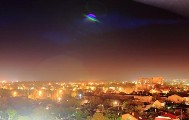 lights sky