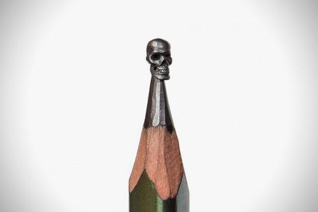 creative pencil skull art idea