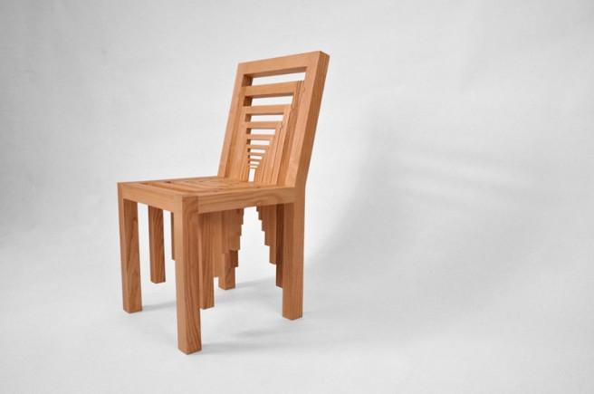 optical illusion chair
