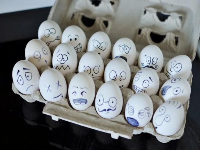 funny egg art drawing