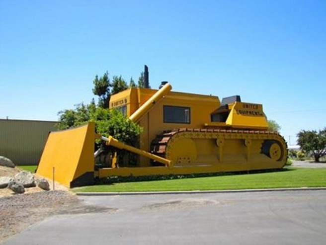 giant bulldozer novelty architecture