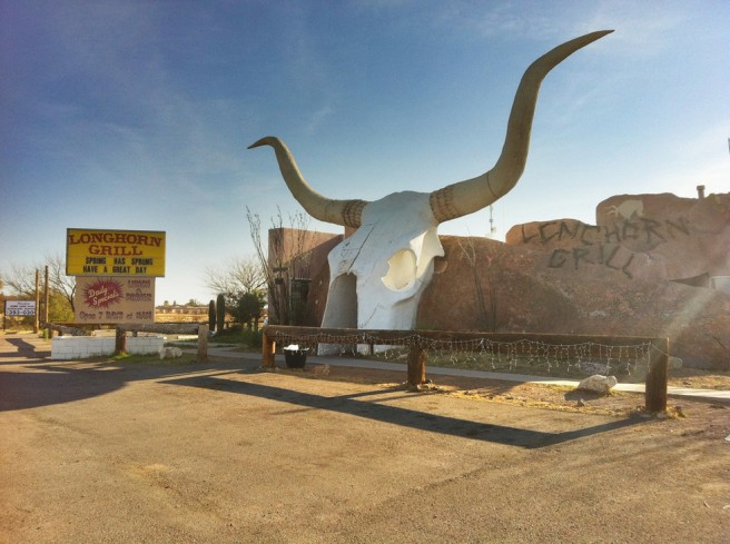 abandoned longhorn grill novelty architecture