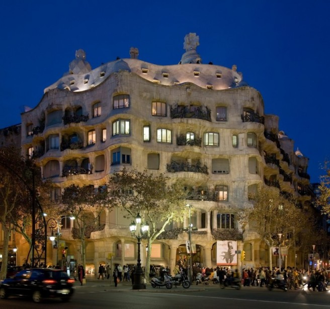 casa milaa barcelona architecture photography