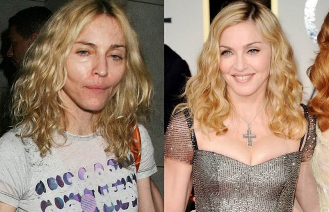 madonna celebrities without makeup