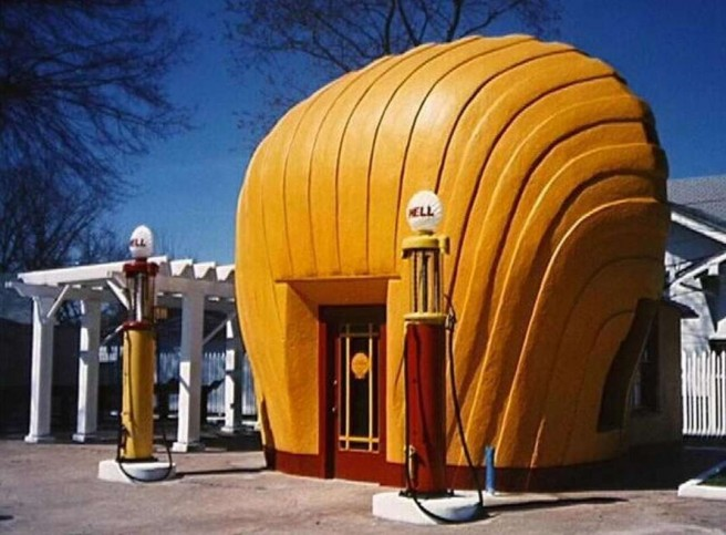 shell service station novelty architecture