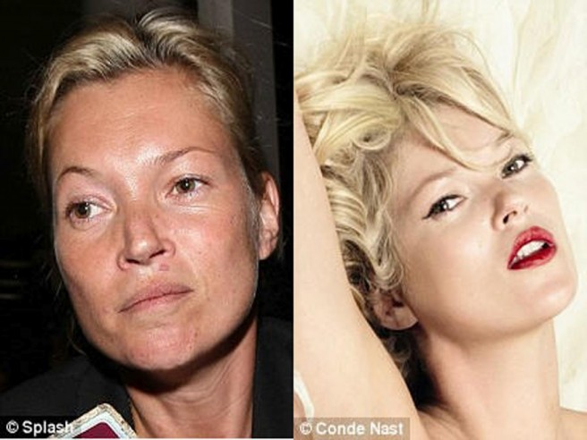 kate moss celebrities without makeup