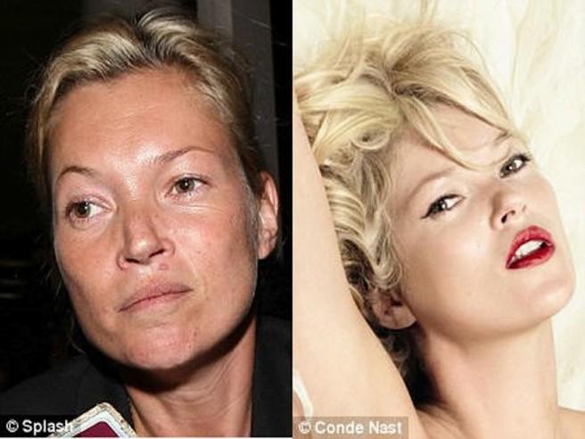 kate moss celebrities without makeup