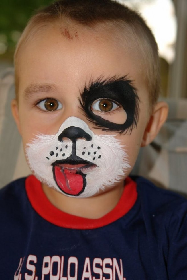 funny dog face painting
