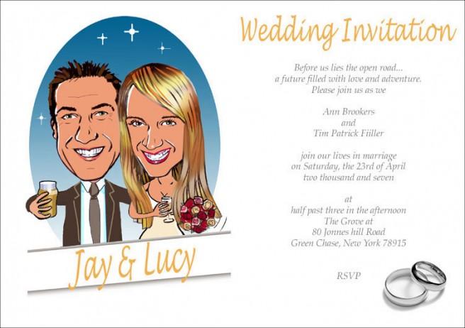 funny wedding invitation cards