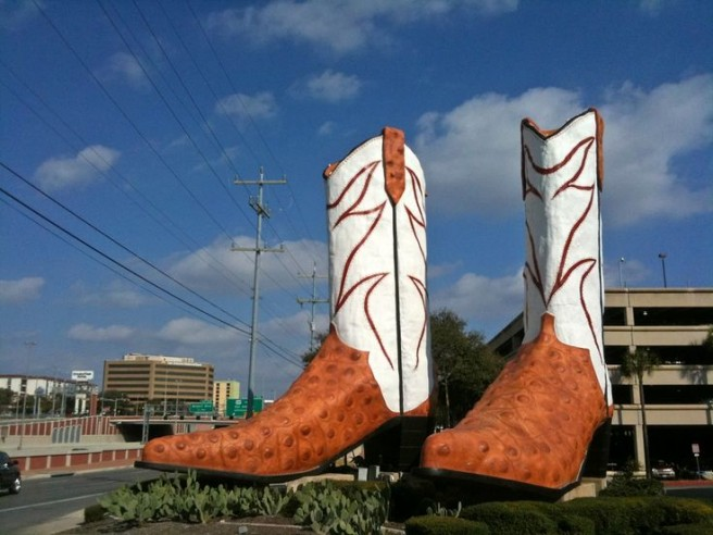 giant vowboy boots novelty architecture