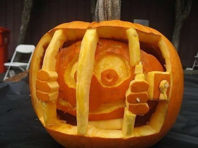 jail pumpkin carving idea