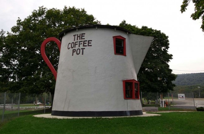 coffee pot novelty architecture