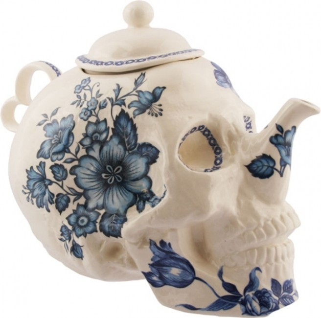 creative teapot skull art idea