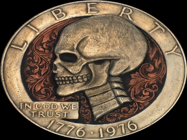 creative liberty coin skull art idea