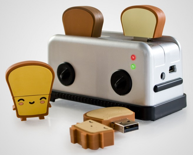 funny usb toaster gadget