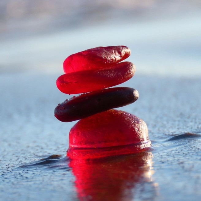 photography seaglass beetroot red tidecharmers