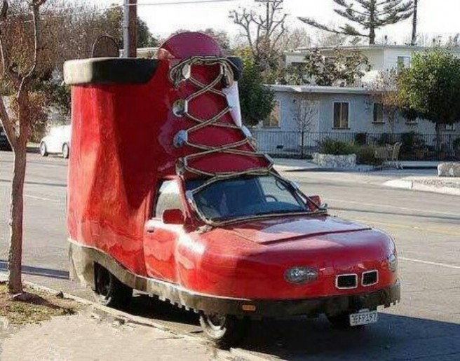 car funny shoe pictures