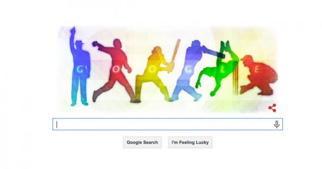 icc cricket world cup funny google doodles