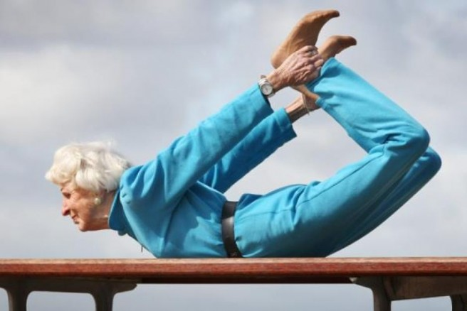 funny grandma yoga pictures