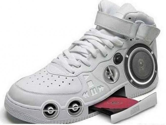 cd player funny shoe pictures