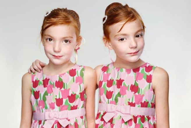 funny identical twins