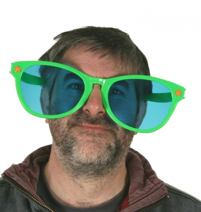 man funny fancy dress glasses picture