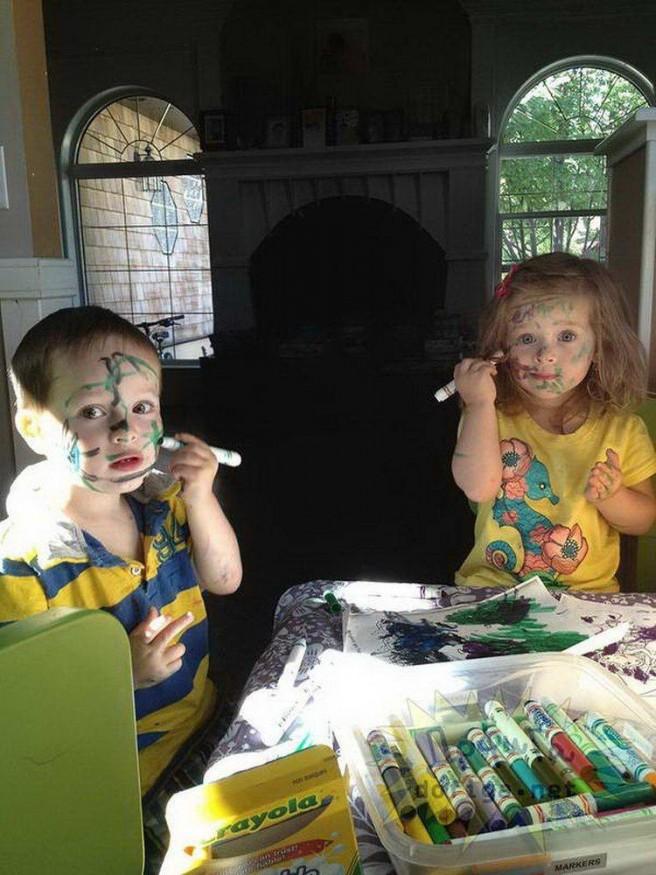 funny kids paintings
