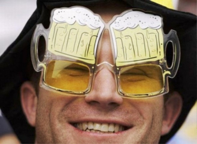 man beer mug funny sunglasses picture
