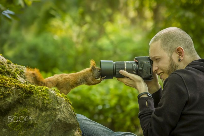 funny candid photography curious squirrel styng