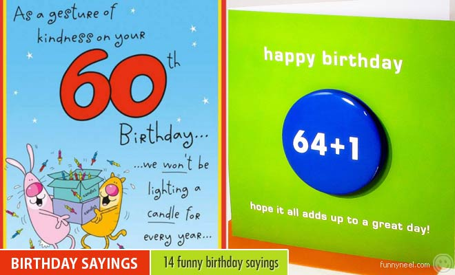 Funny Birthday Sayings