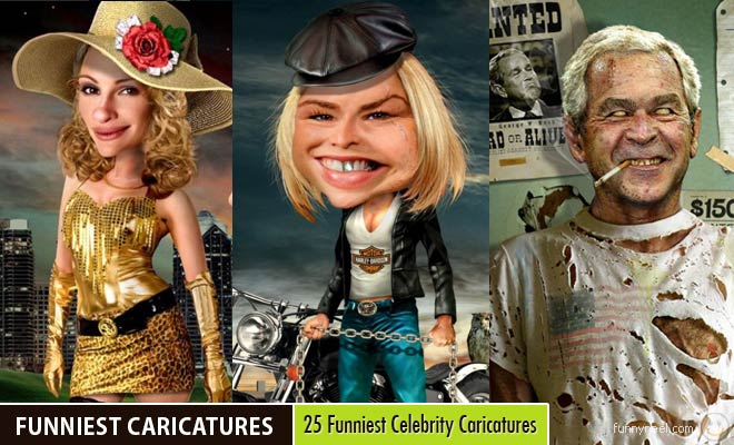 Funniest Celebrity Caricatures