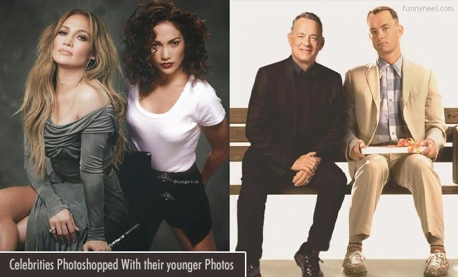 30 celebrities photoshopped with their younger photos
