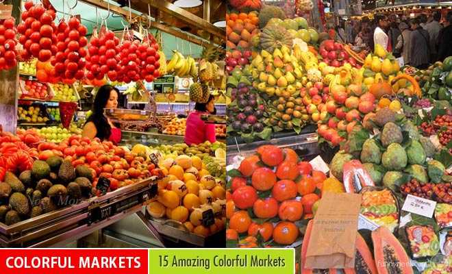 colorful markets around the world