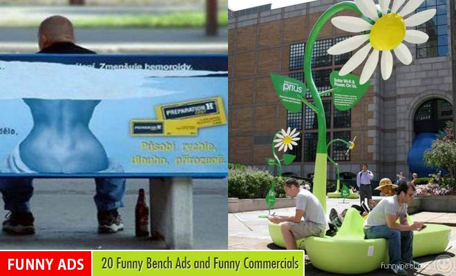funny bench ads