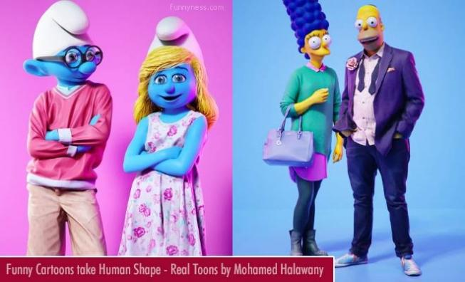 funny cartoons take human shape - real toons by egyptian artist mohamed halawany