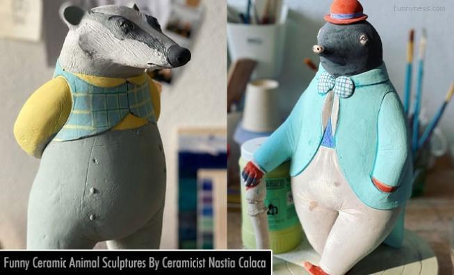 15 funny ceramic animal sculptures by ceramicist nastia calaca