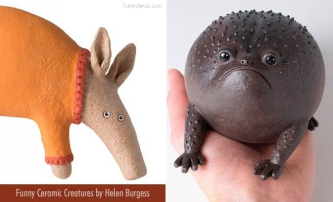 15 funny and adorable ceramic sculptures by artist helen burgess