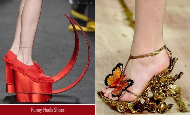 will you dare to walk in public with these crazy heels shoes?