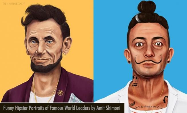 15 funny hipster portraits of famous world leaders by amit shimoni