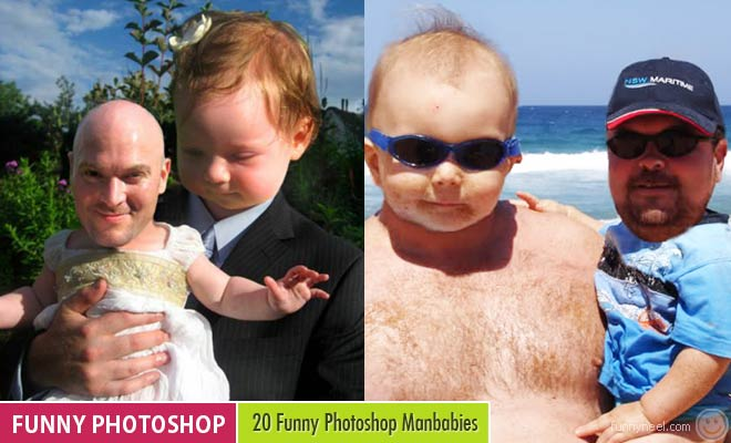 20 Funny Photoshop Manbabies