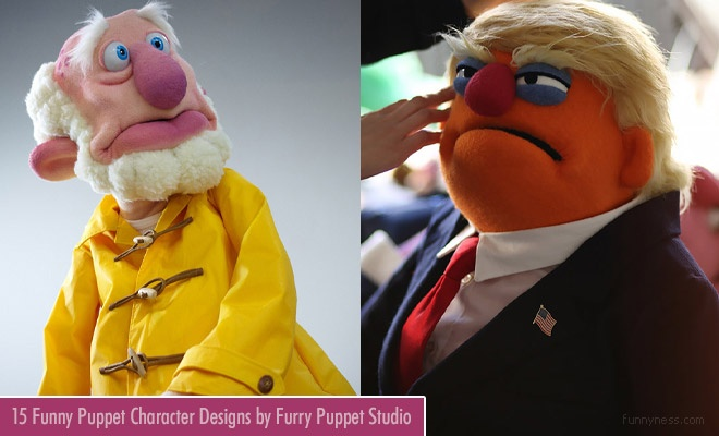 15 funny puppet character designs by furry puppet studio
