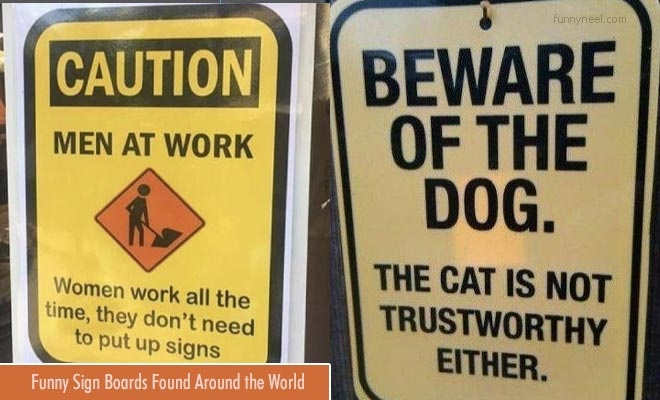 funny sign board