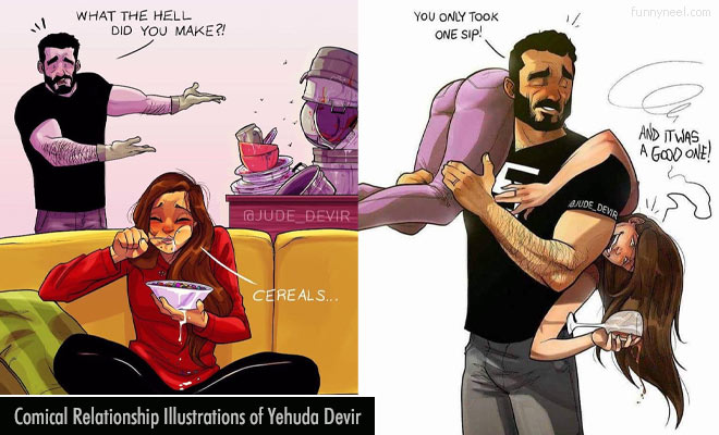 comical relantionship illustrations