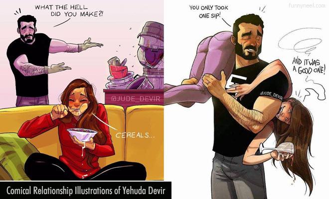 comical relantionship illustrations