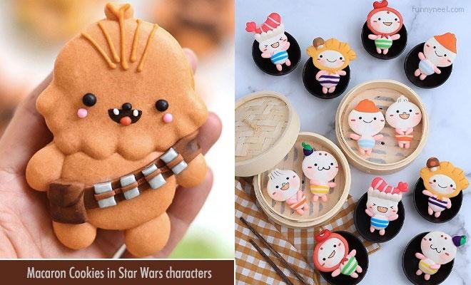 macarons cookies starwars characters