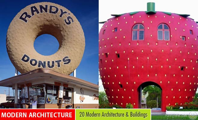 20 Modern Architecture and Beautiful Buildings Shaped Like Their Company Products