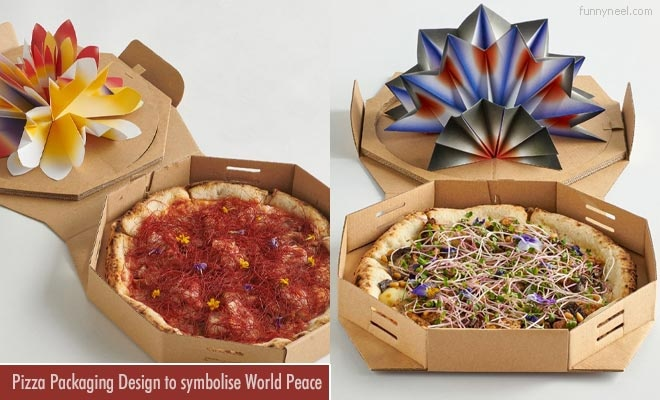 pizza packaging design to world peace day