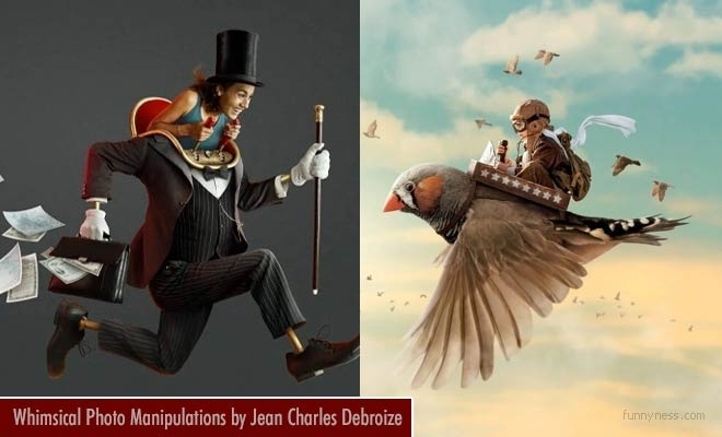 15 funny and whimsical photo manipulation works by jean charles debroize
