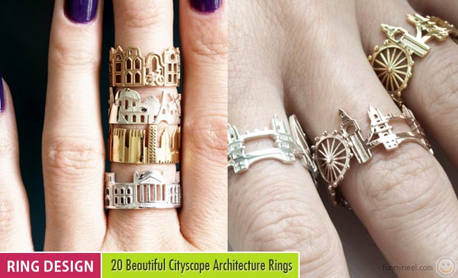 20 Beautiful Cityscape Architecture Rings by Ola Shekhtman